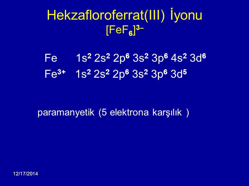 Hekzafloroferrat(III) İyonu [FeF6]3¯
